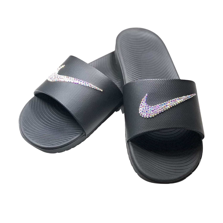 Nike Slide Kawa Women's Black Swarovski
