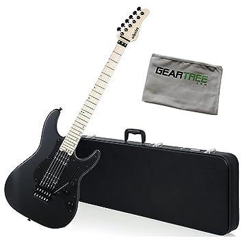 Schecter 1283 Sun Valley Super destructora fr guitarra eléctrica Negro satinado w/gamuza de geartree y duro caso: Amazon.es: Instrumentos musicales