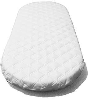 Oval Shaped Toddler Moses Basket MATTRESSES PRAM Baby//Moses Basket Foam Mattress Bassinet Baby PRAM Oval Fully Breathable Quilted 71 X 36 X 3.5 cm
