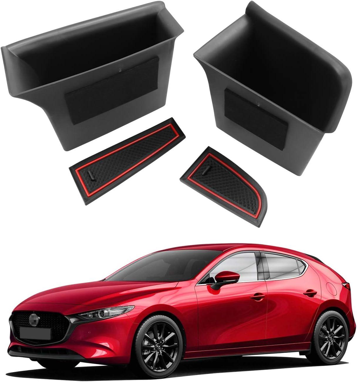 4PCS YEE PIN Front + Rear Door Organizer Tray Car Door Side Handle ...