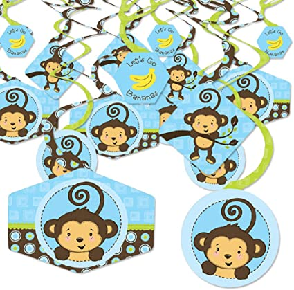 Baby Shower Decorations Party Banner Big Dot of Happiness Monkey Boy
