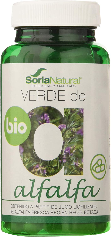 Soria Natural Verde de Alfalfa - 80 Cápsulas