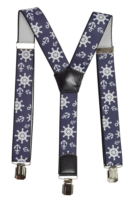 Children/Juniors 1-12 Years Clip on Braces/Suspenders with Sailing Design