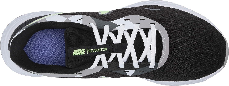 Nike Revolution 5, Chaussures d'Athlétisme Homme Noir Black White Ghost Green Sapphire Dark Smoke Grey Light Smoke Grey