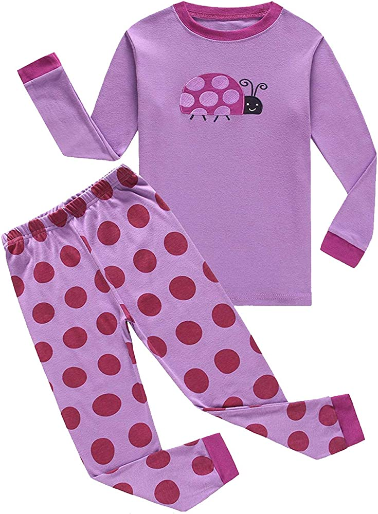 KikizYe Little Big Boys Long Sleeve Pajama Sets 100/% Cotton Pjs