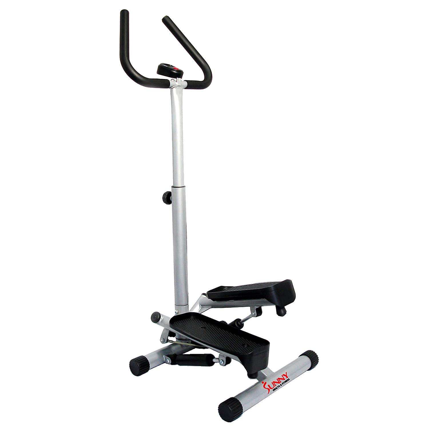 Sunny Health Fitness NO. 059 Twist Stepper Step Machine w Handle Bar and LCD Monitor Renewed