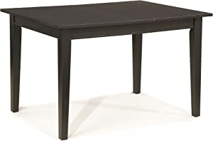 Arts and Crafts Black Rectangular Dining Table by Home Styles