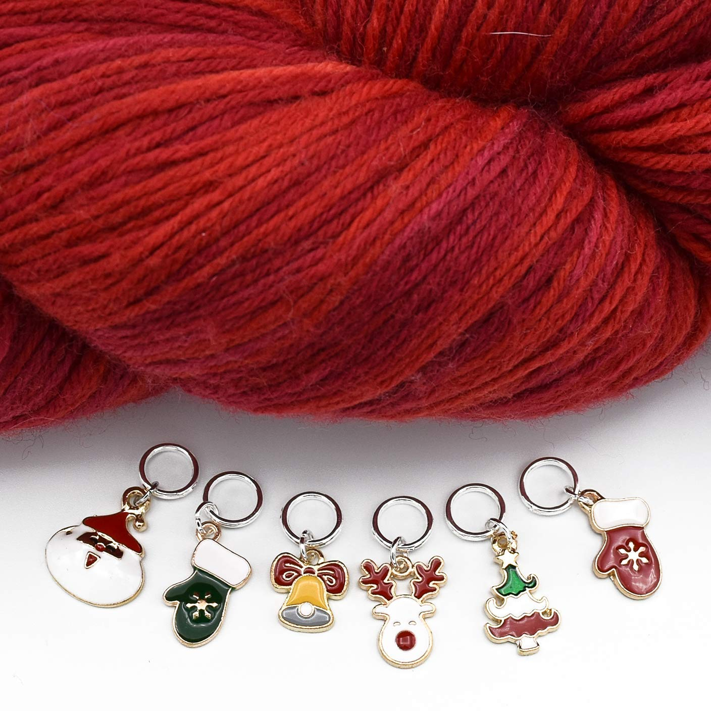 Christmas Stitch Markers up to US 8 Needles