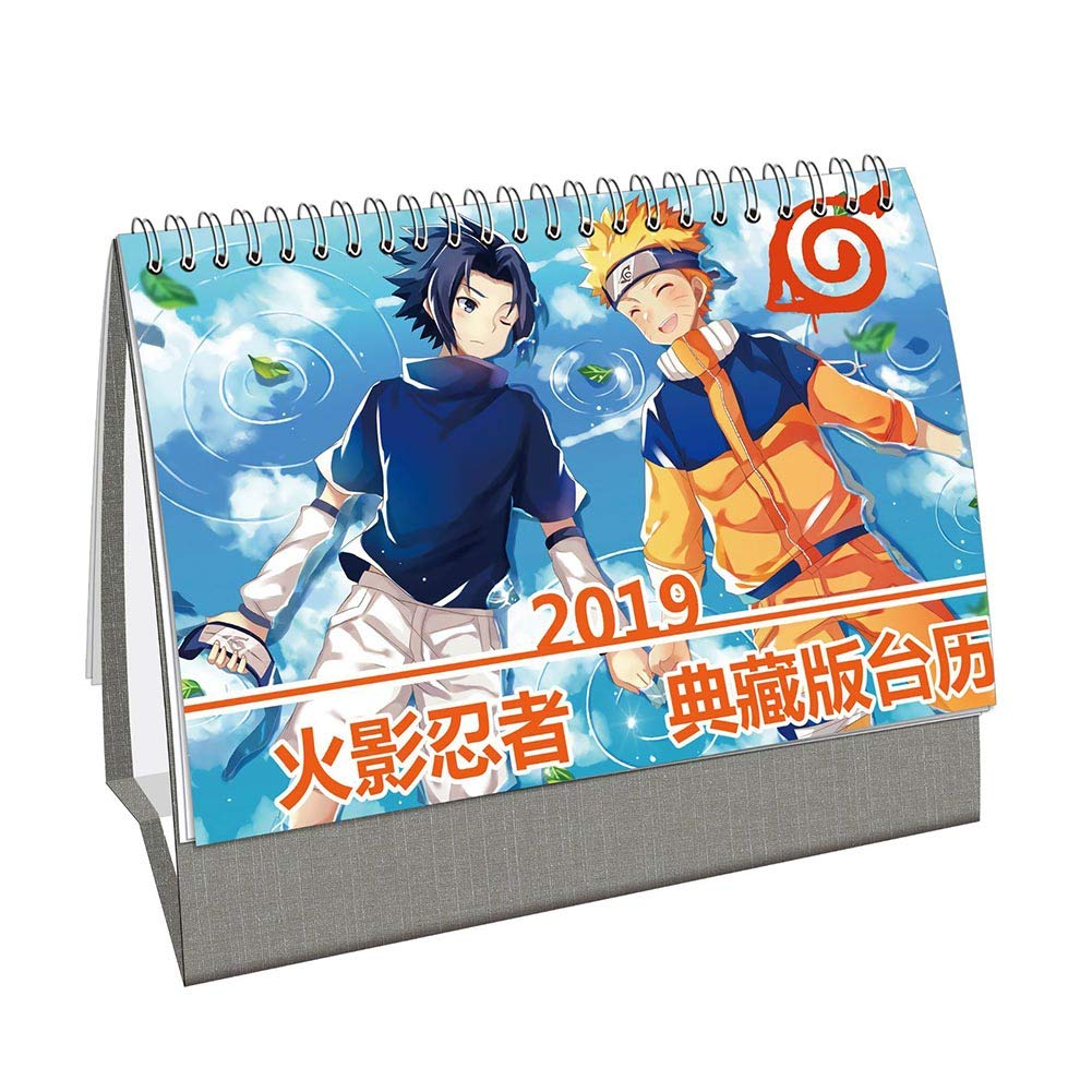 Bowinr anime desk calendar 2019 my hero academia re zero starting life in another world one piece naruto desk calendar for home and officenaruto