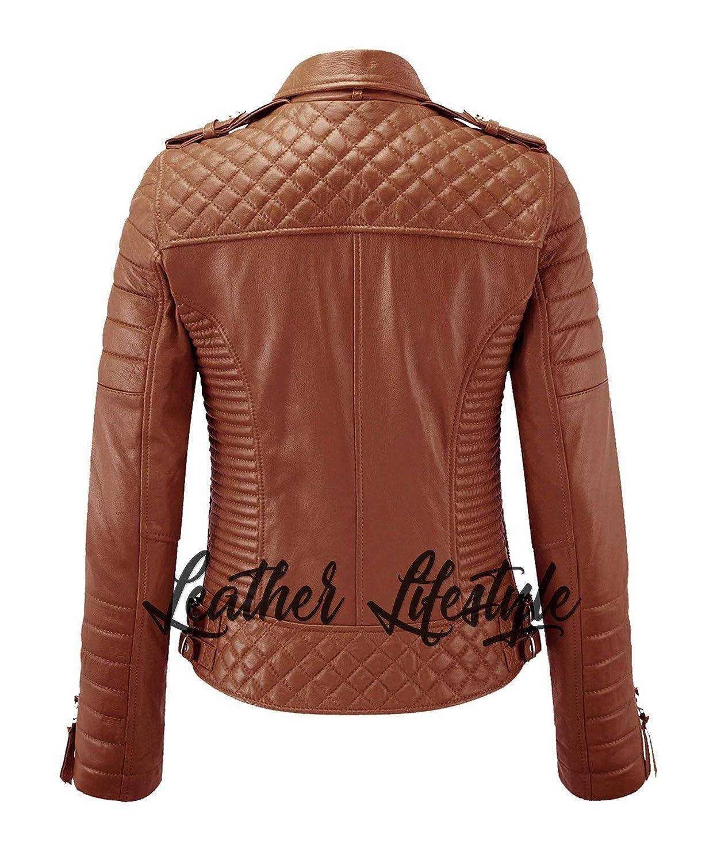 Women Leather Jacket Lambskin Motorcycle Biker Custom Made Real Leather WJ156