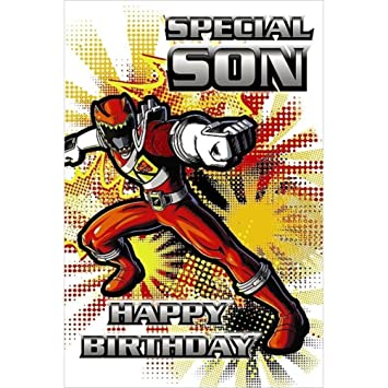 Power Rangers Greetings Card Son Birthday Amazon Office