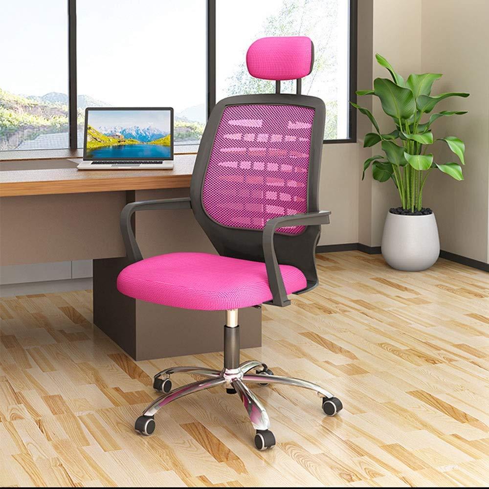 JIEER-C stol svängbar stol datorstol, vilande kontorsstol modern hushåll E-sport stol lyft svängbar stol ergonomi spel baksätet för lägenhetskontor, svart Rosa