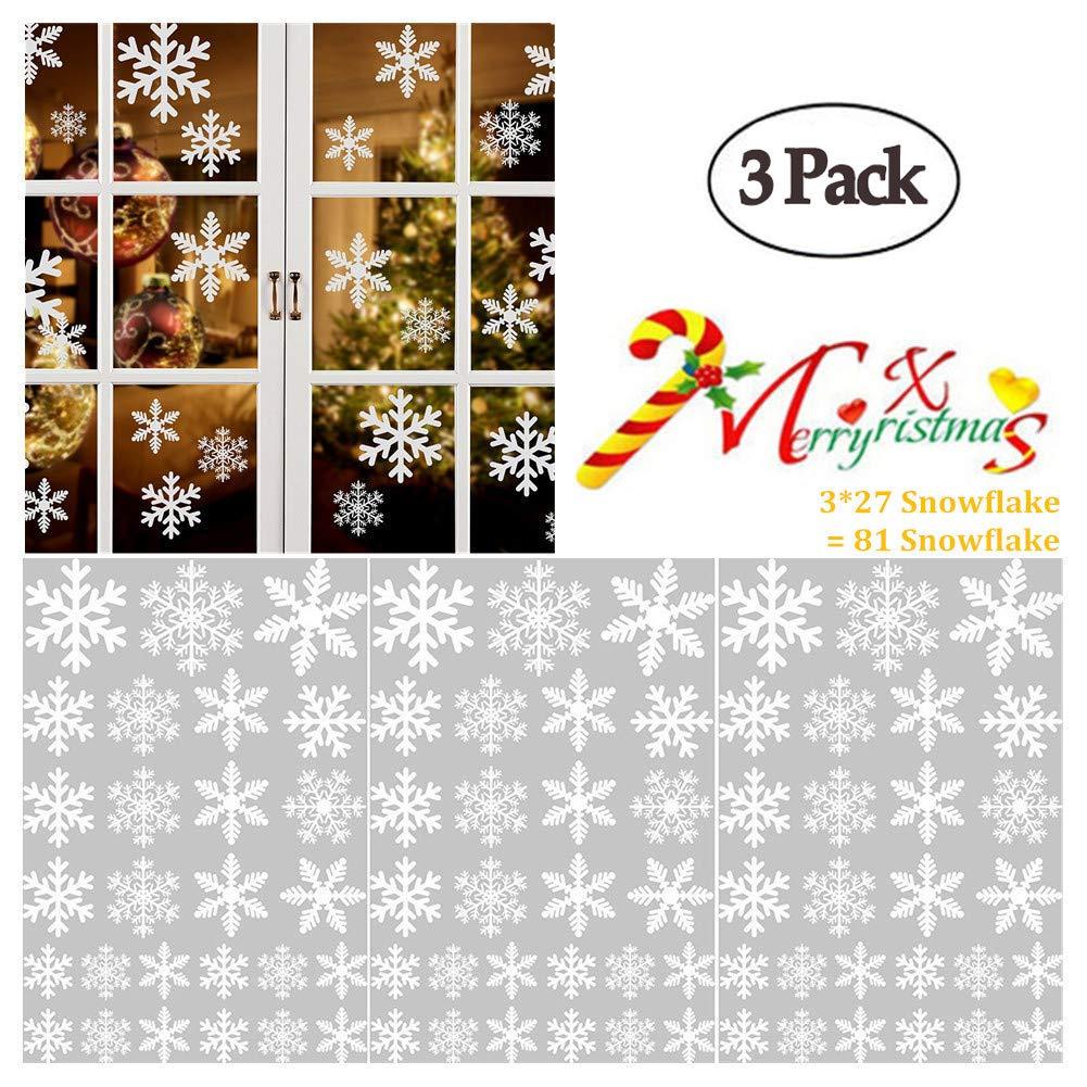 XinGe Weihnachten Schneeflocken Dekoration für Glas, Tür Ornamente 3 ...