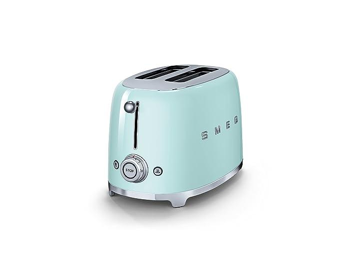 Smeg Kühlschrank Tür Einstellen : Amazon smeg tsf pgeu toaster scheiben pastellgrün