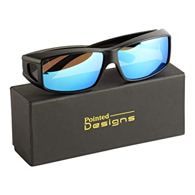 ef3a6d5ed1 Amazon.com  Fit-Over Glasses Polarized Sunglasses w Mirrored Lenses ...