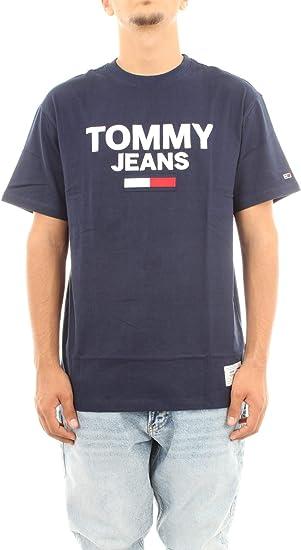 Tommy Hilfiger TJM Novelty Corp Logo tee Camisa Deportiva para Hombre: Amazon.es: Ropa y accesorios