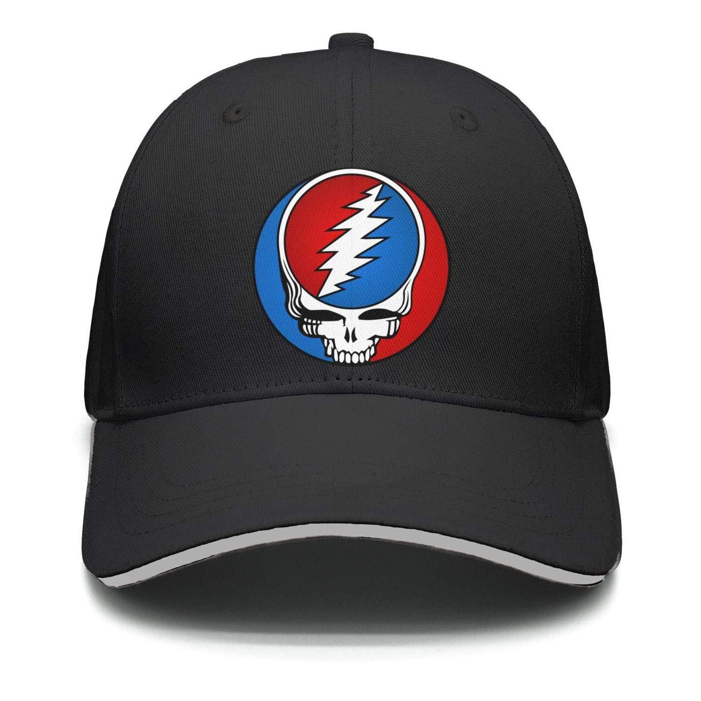 HJHJFT Mens//Woman Adjustable Trucker Hat Grateful-Style-Dead-Symbol-Steal-Your-Face-Vintage Dad Muisc Baseball Hat Caps