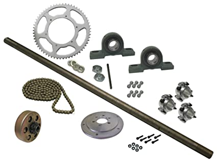 Amazon com: BMI Karts Drift Trike Axle Kit with Clutch, Pillow Block