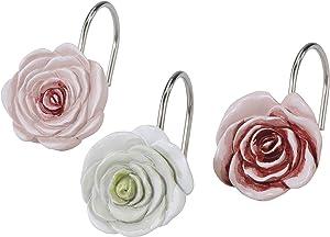 Avanti Linens Spring Garden Collection, 12 pc Shower Hook Set, Multi