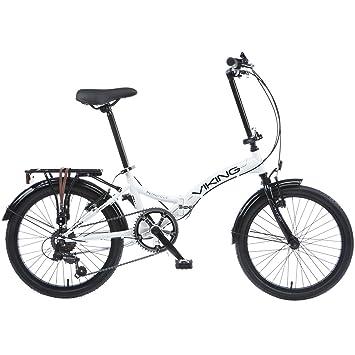 Bicicleta plegable para bicicleta Viking Easy Street Folder Blanco blanco
