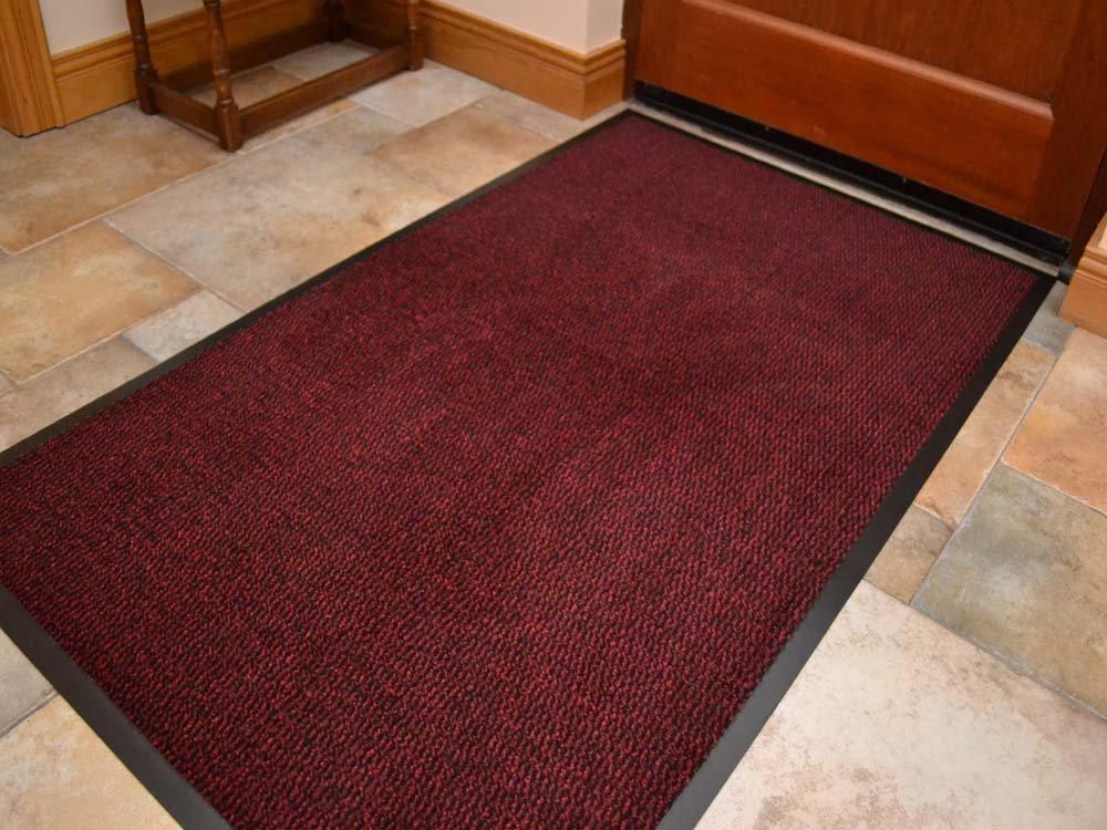 Think-Louder, tappetino per esterni in gomma anti-scivolo, per ingresso, zerbino da casa, cucina, ufficio, Blue, 40 x 60 cm