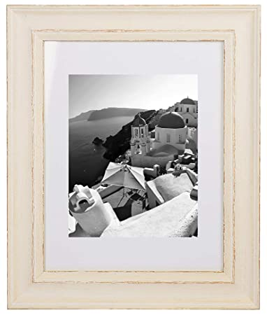 Amazoncom Golden State Art 11x14 Cream Color Photo Frame Shabby