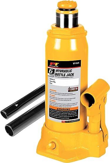 Performance Tool W1625 6-Ton Heavy Duty Hydraulic Bottle Jack 12,000 lbs.