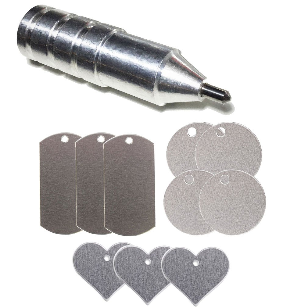 Silhouette Blunt Etching/Engraving Tool by Chomas Creations and Stamping Blanks: Round, Heart, and Dog Tags 4336822520