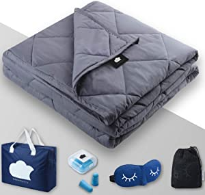 "DREAMality Premium Cooling Weighted Blanket 15 lbs Inner - 48""x72"" Weighted Blanket Adult or for Kids - Full Twin Size Throw Heavy Blankets - Weighted Blanket Cover Sold Separately"