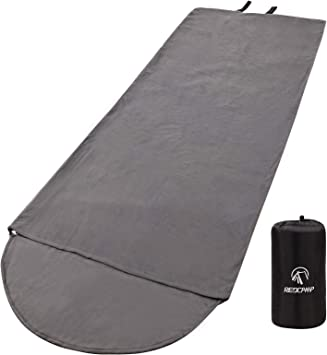 REDCAMP Forro Polar para Saco de Dormir para Adultos, cálido, tamaño Completo, con Cremallera, para Uso en Exteriores o Interiores, Gris con Capucha.: Amazon.es: Deportes y aire libre