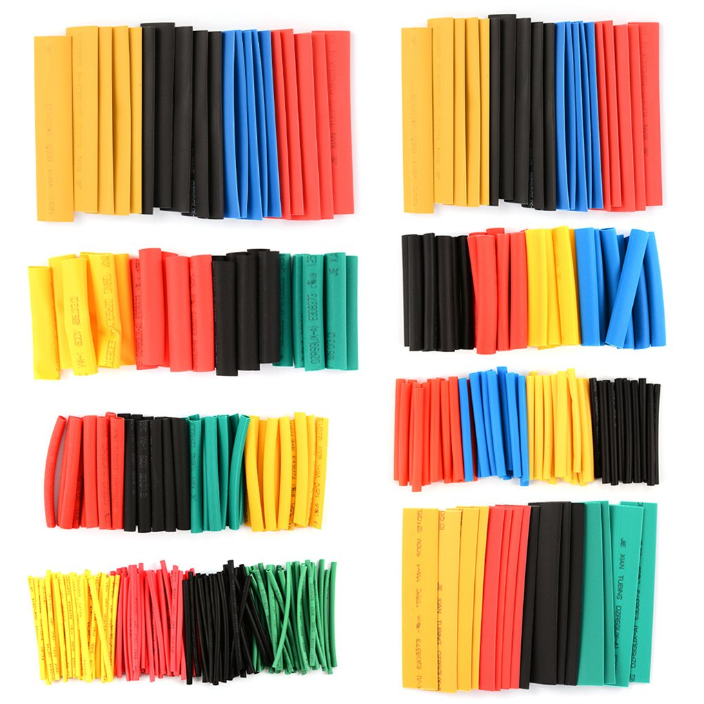 Masterein 328Pcs 8 Grö ß en Multi Color Polyolefin 2: 1 Halogen-Free Schrumpfschlauch Rohr Sortiment Sleeving Wrap Tubes