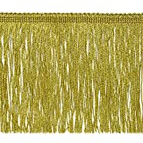 Expo International 6-Inch Metallic Chainette Fringe Trim Embellishment, 20-Yard, Gold
