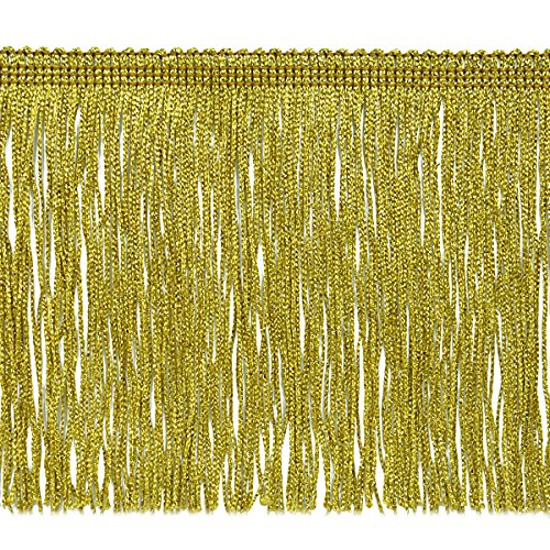 Expo International 6-Inch Metallic Chainette Fringe Trim Embellishment, 20-Yard, Gold by Expo International Inc.
