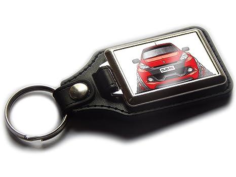Koolart RENAULT CLIO RS - Llavero deportivo de piel y cromo ...