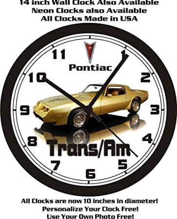 1979-1981 PONTIAC FIREBIRD TRANS AM GOLD WALL CLOCK-FREE USA SHIP
