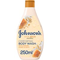 JOHNSON'S Body Wash - Vita-Rich, Smoothies, Comforting, Yogurt, Honey & Oats, 250ml