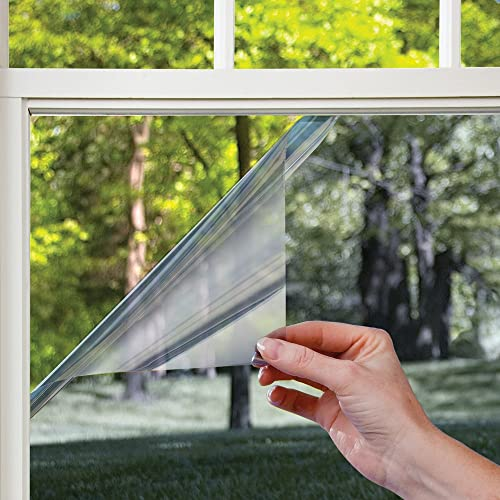 one way window gila privacy mirror adhesive residential diy window film heat control glare 3ft 15ft one way film amazoncom