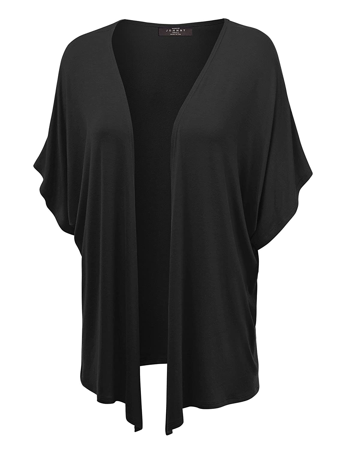 c2c8ccc60 MBJ Womens Short Sleeve Kimono Style Cardigan - Made in USA at ...