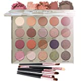 Vodisa 20 color Matte and Shimmer Eyeshadow Palette Warm Color Eye Shadows Glitter High Pigment Powder Pallet with Make…