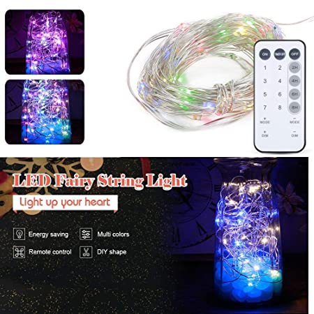 CRD PRODUCTS 12M 120 LEDs 8 Modes LED Light Waterproof Copper Light Decorative String Light Christmas Wedding Holiday Fairy Lights Lamp