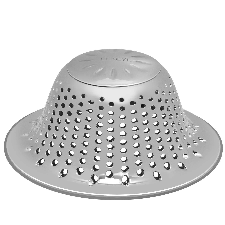 LEKEYE Drain Hair Catcher/Shower Drain Hair Trap/Strainer Stainless Steel Drain Protector-Silver by LEKEYE