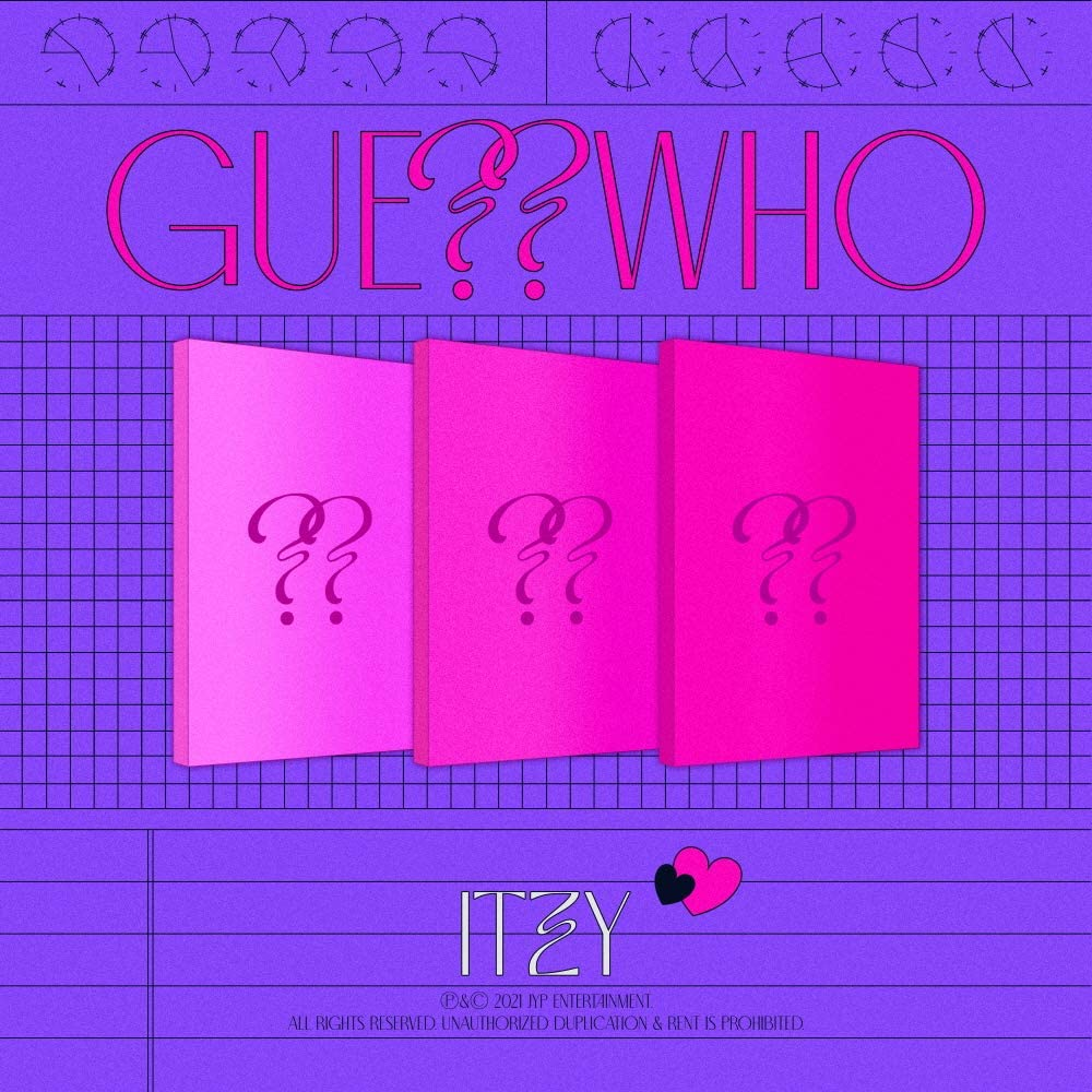 ITZY - GUESS 2021 spring and Las Vegas Mall summer new WHO Album+Pre-Order Pho Poster+Extra Benefit+Folded