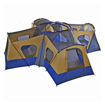 Family Cabin Tent 14 Person Base C& 4 Rooms Hiking C&ing Shelter Outdoor  sc 1 st  Amazon.com & Amazon.com : Family Cabin Tent 14 Person Base Camp 4 Rooms Hiking ...
