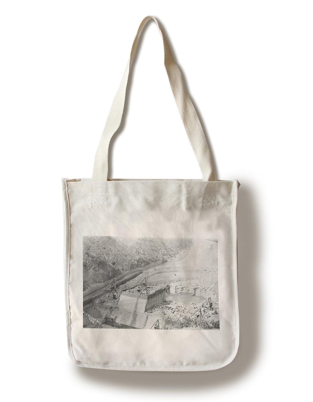 新しいメキシコ – 航空の象Butteダム建設写真 Canvas Tote Bag LANT-32273-TT B01841V4J2  Canvas Tote Bag