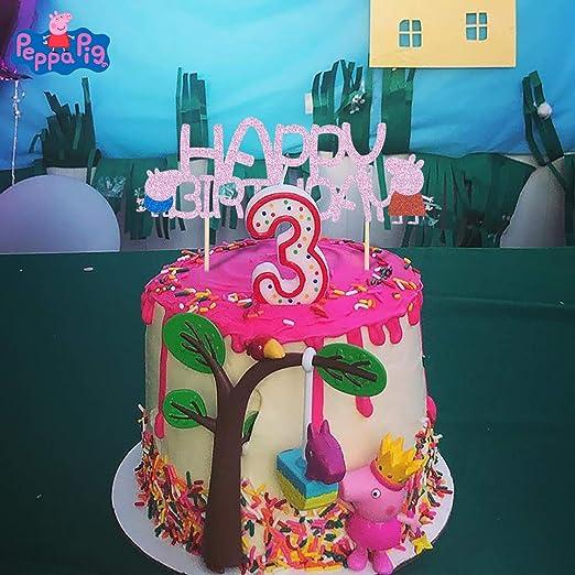 KAPOKKU Peppa Pig - Decoración para tartas de cumpleaños ...