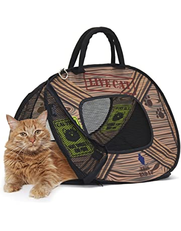 b22f317113 SportPet Designs Cat Carrier With Zipper Lock- Foldable Travel Cat Carrier
