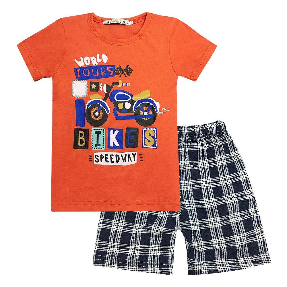 Yilaku Niño Camisetas de Manga Corta y Pantalones Cortos 2pcs Chicos Ropa Sets Niños Dibujos Animados CF462