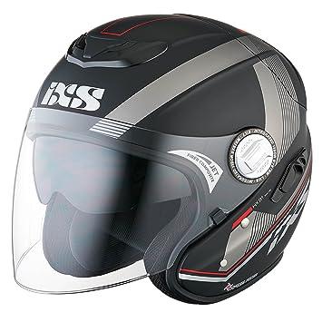 IXS HX 91 Inner City Jet Casco Moto fibra de vidrio – Negro Mate Plata