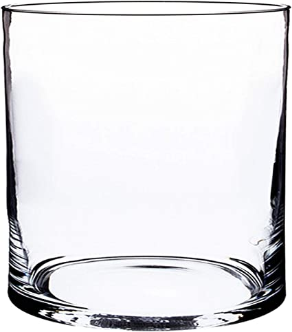 Transparente INNA-Glas Jarr/ón Sansa Recipiente de Cristal cil/índrico//Redondo Florero Decorativo 40cm /Ø10cm