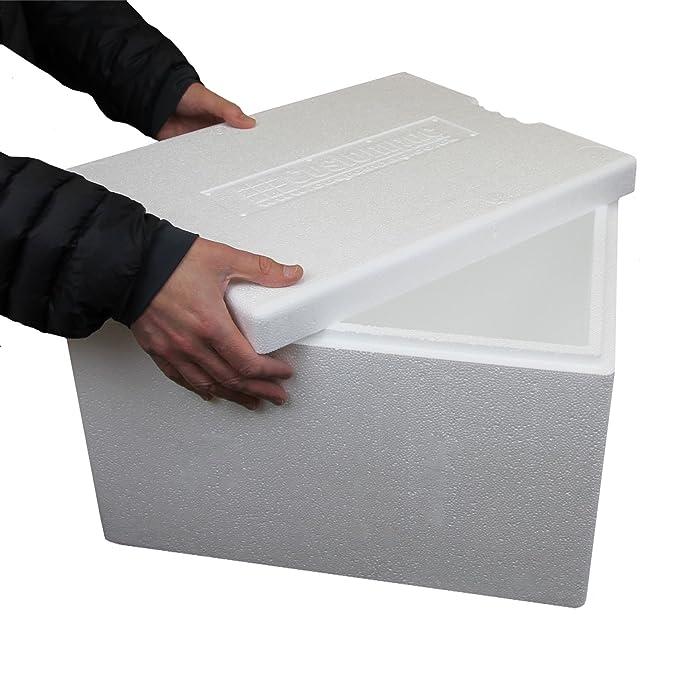 Caja de poliestireno de 34 litros. Hielera. Caja para pescado ...
